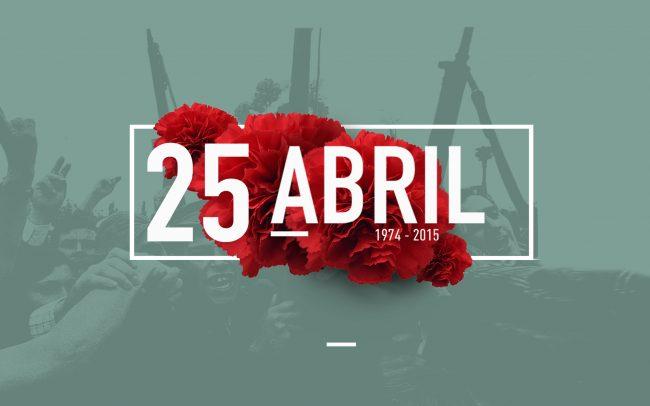 Cartaz das comemorações do 25 de Abril 2015